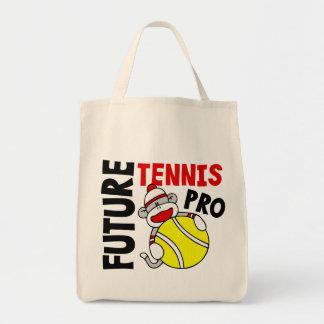 Future Tennis Pro Sock Monkey Tote Bag
