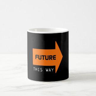 FUTURE THIS WAY BASIC WHITE MUG