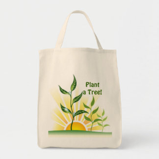 Future Trees Grocery Tote Bag