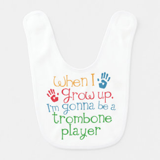Future trombone Player Baby Bib