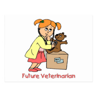 Future Vet - Little Girl Postcard