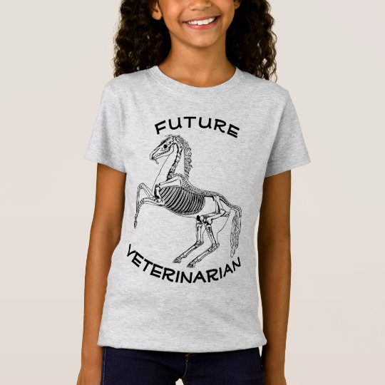 """Future Veterinarian"" and Horse Skeleton T-Shirt"