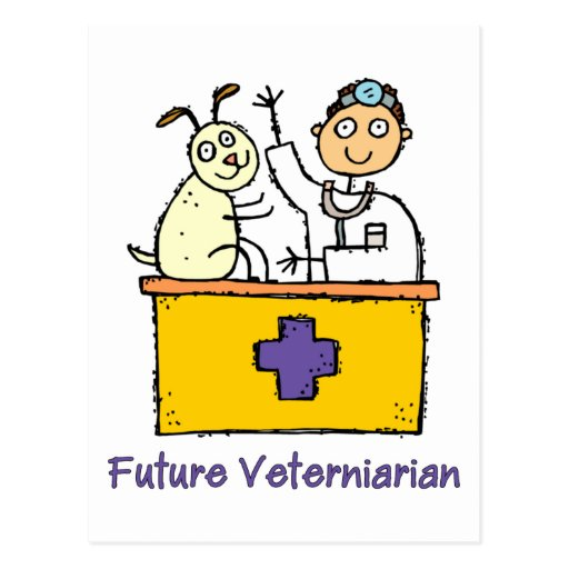 Future Veterinarian - Boy Postcards
