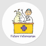 Future Veterinarian - Boy Round Stickers