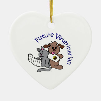 FUTURE VETERINARIAN CERAMIC HEART DECORATION