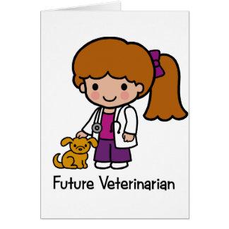 Future Veterinarian - Girl Card