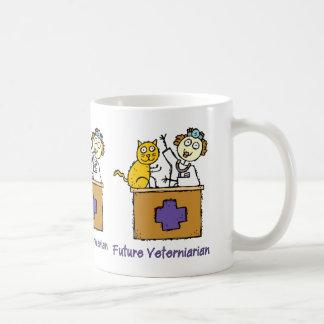 Future Veterinarian - Girl with Cat Coffee Mug