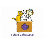 Future Veterinarian - Girl with Cat Post Card