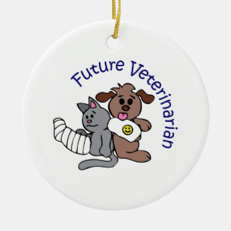FUTURE VETERINARIAN ROUND CERAMIC DECORATION