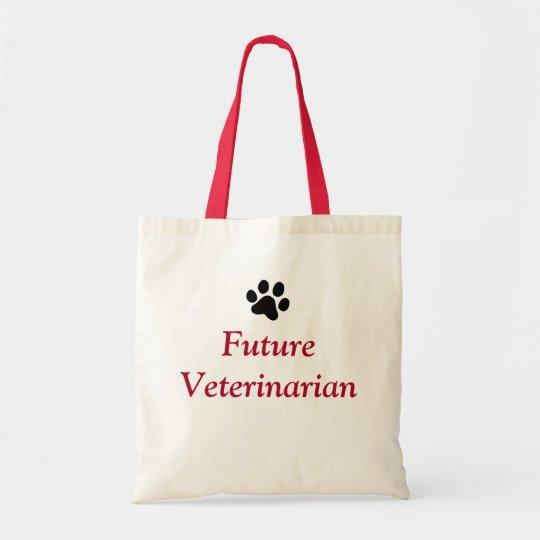 Future Veterinarian with Black Paw Print Tote Bag