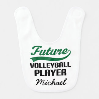 Future Volleyball Player Personalized Baby Bib