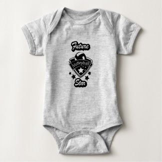 Future Volleyball Star Design - Black and White Baby Bodysuit