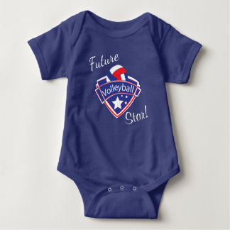 Future Volleyball Star - Red, White and Blue Baby Bodysuit