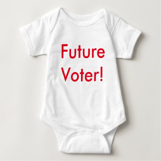 Future Voter! In Republican Red Baby Bodysuit
