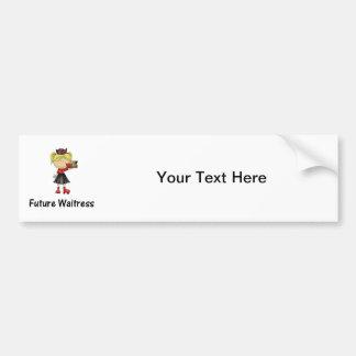 future waitress car bumper sticker
