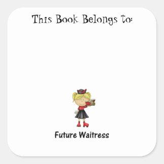 future waitress square sticker