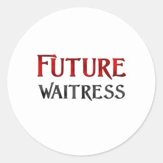 Future Waitress Sticker