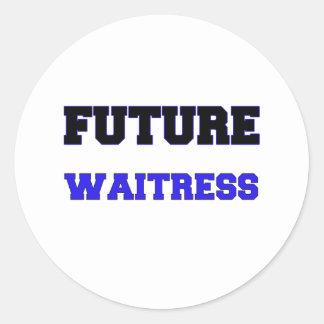 Future Waitress Stickers