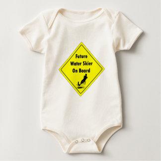 Future Water Skier On Board Baby Bodysuit