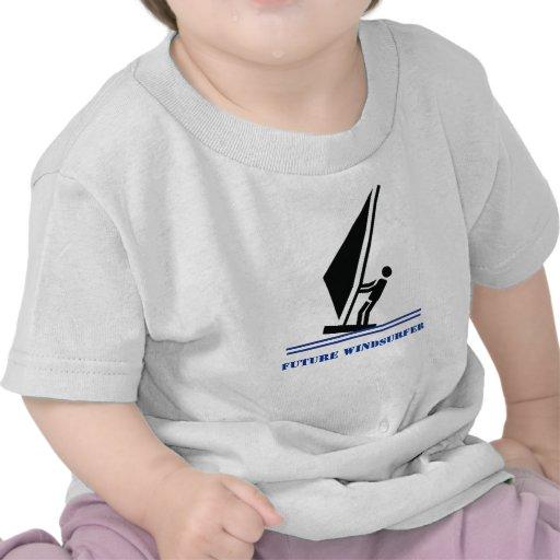 Future windsurfer black, blue windsurfing custom shirt
