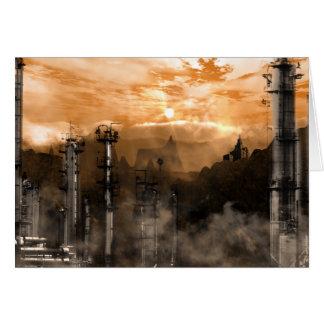 Futurescape Sci-Fi Gothic Landscape Greeting Cards