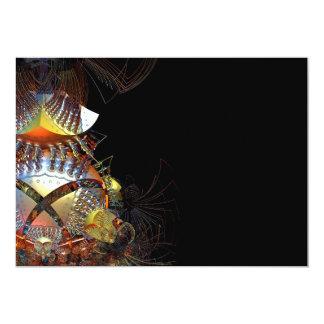Futuristic 3D fractal 13 Cm X 18 Cm Invitation Card