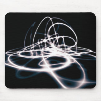 Futuristic Abstract Curves Background Mouse Pad