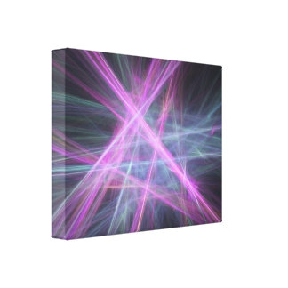 Futuristic Abstract Fractal Design Canvas Print