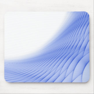 Futuristic Abstract in Light Blue Mouse Pads