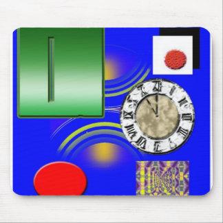 futuristic art picture mouse pad