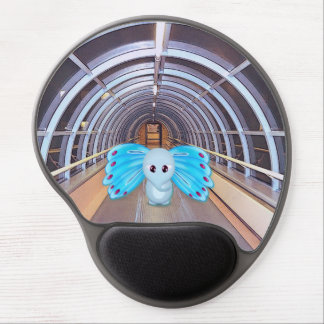Futuristic Butterfly Elephant Scene Gel Mouse Pad