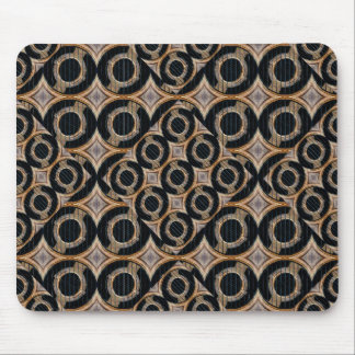Futuristic Circles Abstract Pattern Mousepads