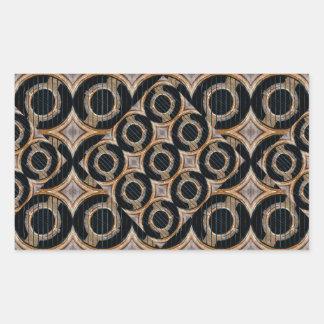 Futuristic Circles Abstract Pattern Rectangular Sticker