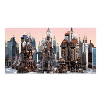 Futuristic City Customized Photo Card