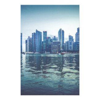 FUTURISTIC CITYSCAPE CITY HIGH-RISES WALLPAPERS BA CUSTOMIZED STATIONERY