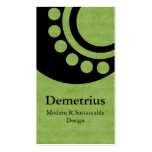 Futuristic Dimensions Business Card, Green Pack Of Standard Business Cards