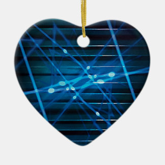 Futuristic Dynamic Abstract Design Christmas Ornament