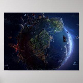 Futuristic Earth Poster