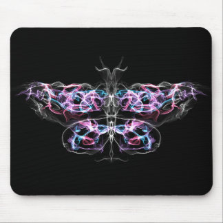 Futuristic Fractal Butterfly Mouse Pad