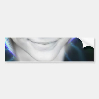 Futuristic Glowing Hair Woman Bumper Sticker