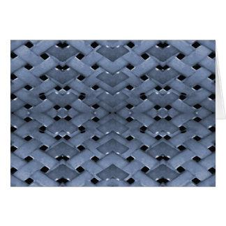 Futuristic Grid Pattern Greeting Cards
