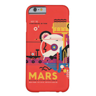 Futuristic Mars Space Travel Illustration Barely There iPhone 6 Case