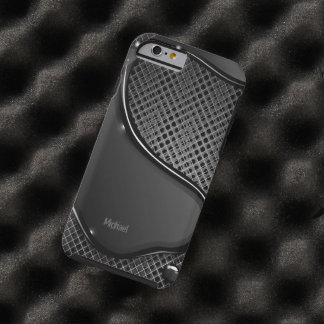 Futuristic Metal Abstract Black Liquid Tough iPhone 6 Case