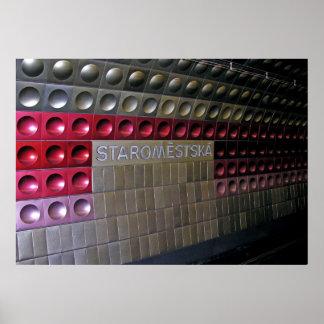 Futuristic Metro, Prague Poster