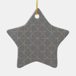 Futuristic Pinstripes Ceramic Star Decoration