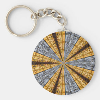 Futuristic Primitive Basic Round Button Key Ring