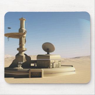 Futuristic Sci-Fi desert outpost building Mouse Pad