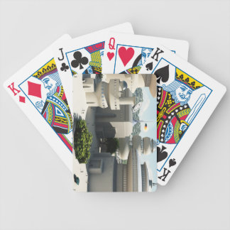Futuristic Sci-Fi townscape Bicycle Playing Cards