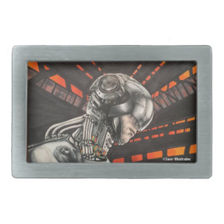 Futuristic Scifi Virtual Reality Belt Buckle