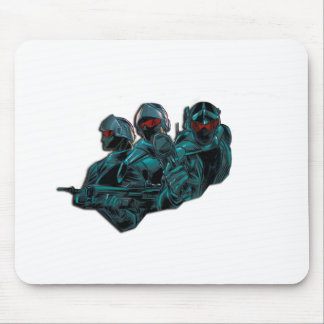 Futuristic Soldiers Mouse Pad